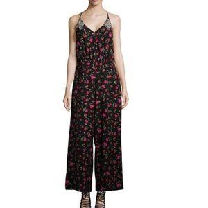 Dodo Bar Or Julia Red Black Floral Jumpsuit S/42